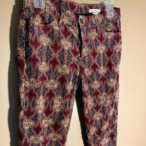Club Monaco pattern corduroy skinny pants